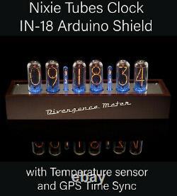 In-18 Nixie Tubes Clock Divergence Meter Gps Sync 12/24h Livraison Gratuite 3-5days