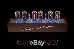 In-18 Tubes Nixie Horloge En Bois Fast Cas Ups Livraison Gratuite 3-5 Jours