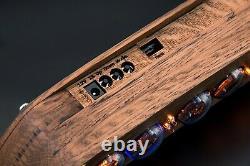 In-4 Nixie Tubes Clock Oak Vintage Wooden Case Slot Machine 12/24h Livraison Gratuite