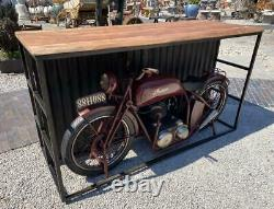 Indian Motorcycle Home Bar / Shop Counter / Sideboard Retro Vintage Style Bike