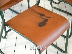Job Lot De 10 Vintage Café Bar Emboîtables Industrielles Chaises De Cuisine Dinning