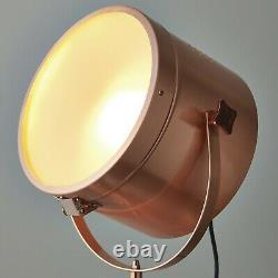 Lampe Trépied Chic White & Copper Floor Lamp Retro Vintage Studio Spot Light