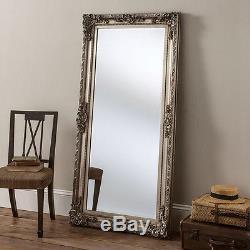 Large Full Length Miroir Miroir En Miroir Antique Antidérapant Chic En Argent 5ft9x2ft9