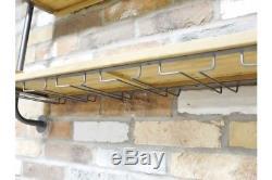 Le Rayonnage Industriel Vintage Boit Le Support D'unité De Mur Pour La Barre De Verres À Vin À La Maison
