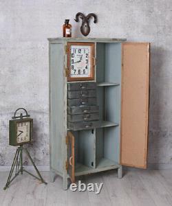 Loft Kommode Fabrik Schrank Regalschrank Industrie Möbel Schubladenschrank Rétro