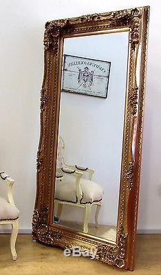 Louis X Large Shabby Chic Plein Longueur Muraux Miroir Miroir Or 176cm X 90cm