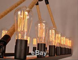 Lustre De Fer De Grande Ferme Industrielle, Restaurant De Bar Edison, Lumière Rustique 16