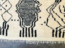 Main Vintage (7,5 X 4,6 Pieds) Morrocan Beni Ourain Tapis Berbère Azilal