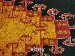 Maroc Vintage Tapis De Laine Fait Main Bohemian Berber Rug 4x7 Taznakht Tapis Noir