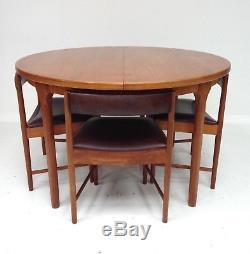 Mcintosh Vintage Retro Teck Cuisine Table Et 4 Chaises De Style Danois Des Années 1960
