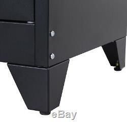 Meuble De Rangement Industriel D'unité De Buffet En Métal De Style Tv Avec 4 Trous De Câble