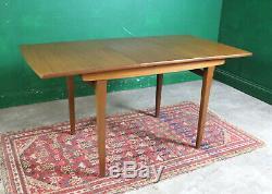 Milieu Du Siècle Jentique Table À Manger Et 4 Chaises, Extension, Teck, Rétro, Vintage