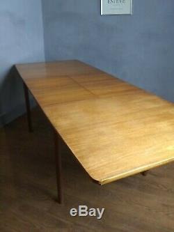 Milieu Du Siècle Rétro Mcintosh Teck Feuille Double Extension Table À Manger