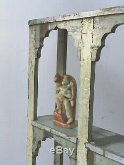 Mobilier Indien Antique / Vintage. 6 Présentoir D'arche De Mughal. Babeurre Et Lilas