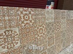 Mur 15x15cm Effet Vintage Design Brillant Modèle Crème Carreaux Beaucoup De 5m2