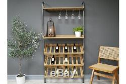Mur Lean À L'unité Industrielle De Vin Accueil Bar Bouteille Et Espaces De Rangement En Verre