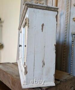 Nouveau Vintage French Cream Shabby Chic Rustic Wall Bath Mirror Armoire Armoire Armoire