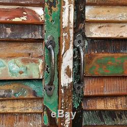 Nouveaux Meubles De Maison Récupérés Meuble De Rangement En Bois 4 Portes Multicolores