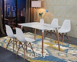 Nouvelle Table À Manger Rectangle Blanc Et 4 Chaises Retro Dsw Eiffel Style Furniture