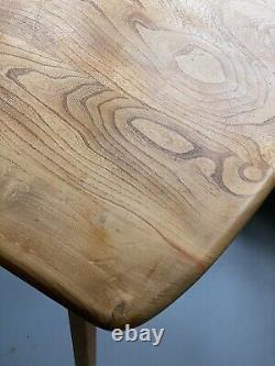 Original Des Années 1960 Ercol Elm Dining Table Midcentury Vintage Retro Beautiful Wood