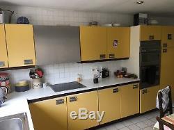 Original Vintage Retro 70s Yellow Kitchen Cupboard Armoire Portes