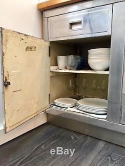 Paul Metalcraft 1950s Unité De Cuisine Vintage / Armoires Et Tiroirs En Métal Rétro