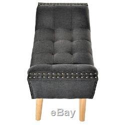 Petit Banc De Chambre Rembourré Couloir Vintage Retro Chaise Longue Fenêtre Seat