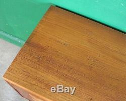 Petit G Chest Plan D'tiroirs, Teck Cabinet, Retro, Vintage, MID Century, Lounge