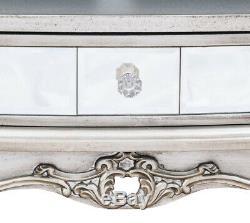 Petite Table D'appoint Console Avec Couloir Avec Tiroirs Et Meubles En Verre Miroir