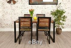 Petite Table De Salle À Manger Industrielle Rustique En Bois Massif, Style Cuisine Rétro