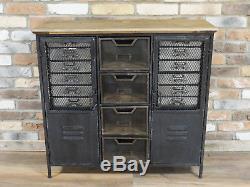 Placard Industriel Vintage D'unité De Stockage De Buffet De Placard De Cabinet Ab De Tiroirs