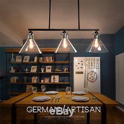 Plafonniers De Cuisine Grand Lustre Éclairage Vintage Verre Pendentif