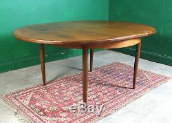 Plan De Retro G Dning Table, Fresco, Teck, Ronde, Extension, Cuisine, Vintage