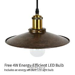 Poulie Lumineuse Industrielle Vintage Plafond Simple Double Triple Ampoule S'allume