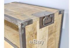 Rangement D'armoire Rustique En Métal De Style Industriel - 6 Tiroirs