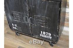Rangement D'armoire Style Rustique En Métal / Petit Buffet Rétro