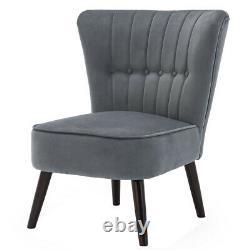 Rembourré Occasionnel Cocktail Velvet Accent Tub Chair Shell Retro Scallop Seat