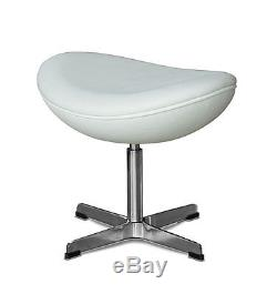 Repose-pieds Adaptable Sur Arne Jacobsen Egg Chair Retro. Cuir Véritable Noir Ou Crème