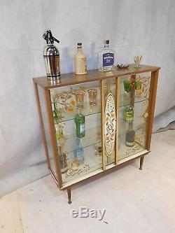 Retro 50s 60s Cocktail Cabinet Vintage Home Bar Boissons Boissons Boissons Bar