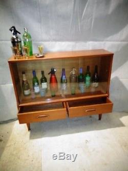 Retro 50s 60s Teak Cocktail Cabinet Vintage Boissons Bar Home Bar Eer Atomic