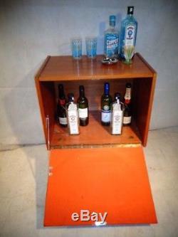 Retro 60s Teck Cocktail Cabinet Vintage Maison Bar MID Century Boissons Armoire