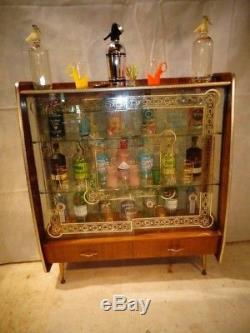 Retro Cocktail Cabinet Vintage Home Bar Des Années 60, 60, Etak, Des Boissons En Teck