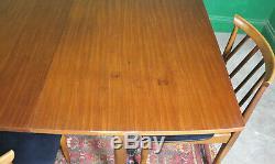 Retro Eon Table À Manger Et 4 Chaises, MID Century, Teck, Vintage, Extension De La Cuisine