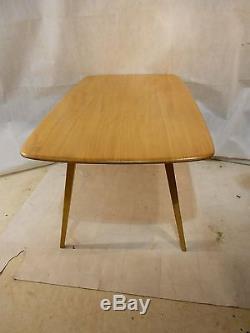 Retro Ercol Elm Grande Table De Table N ° 755 Vintage Cuisine Table Table De Repas