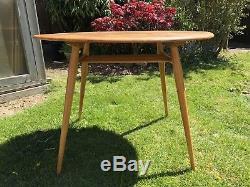 Rétro Ercol Windsor 396 Ovale Petit Déjeuner Vintage Cuisine Table À Manger Avec Support