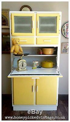 Retro Garde-meubles De Cuisine Jaune Armoire De Placage Gabinet D'armoire Kitchenette Vintage