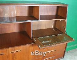 Rétro MIDI Bahut, Teck, MID Century, Placard De Rangement Boissons Salon Cabinet