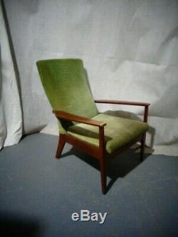 Retro Parker Knoll Easy Chair Chaise Vintage MID Century Modern Upholsterd Président