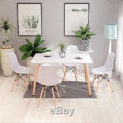 Rétro Salle À Manger Table Et Chaises 4 Ou 6 Pieds En Bois Eiffel Cuisine Salle