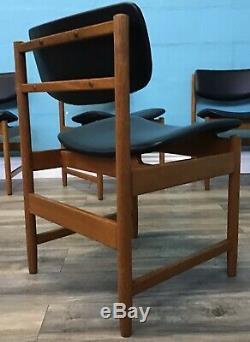 Retro Set Quatre Blanc Et Newton Repas Vintage Siècle Chairs MID